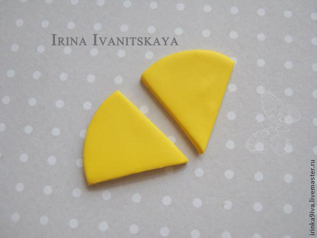 DIY Cheese Earrings of Polymer Clay, фото № 6