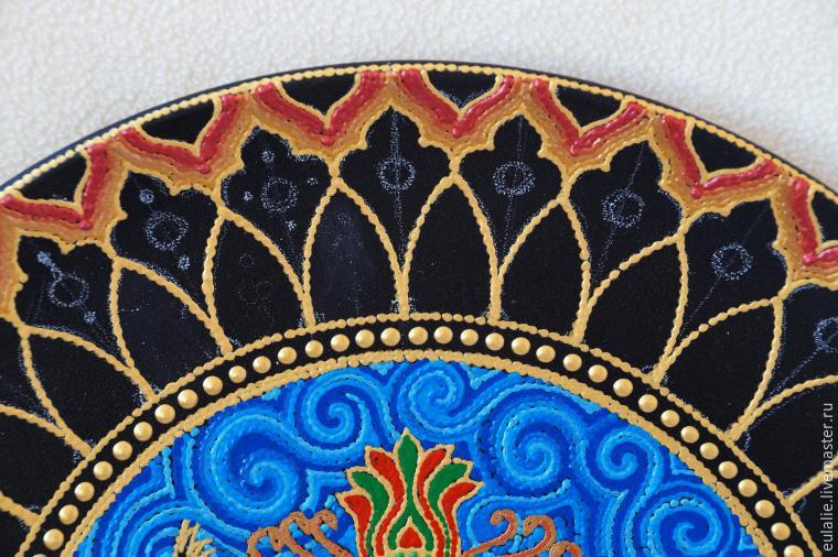 Мастер-класс по точечной росписи: тарелка-панно «танцующий Шива», фото № 14
