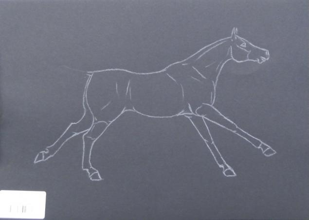 вороная лошадь