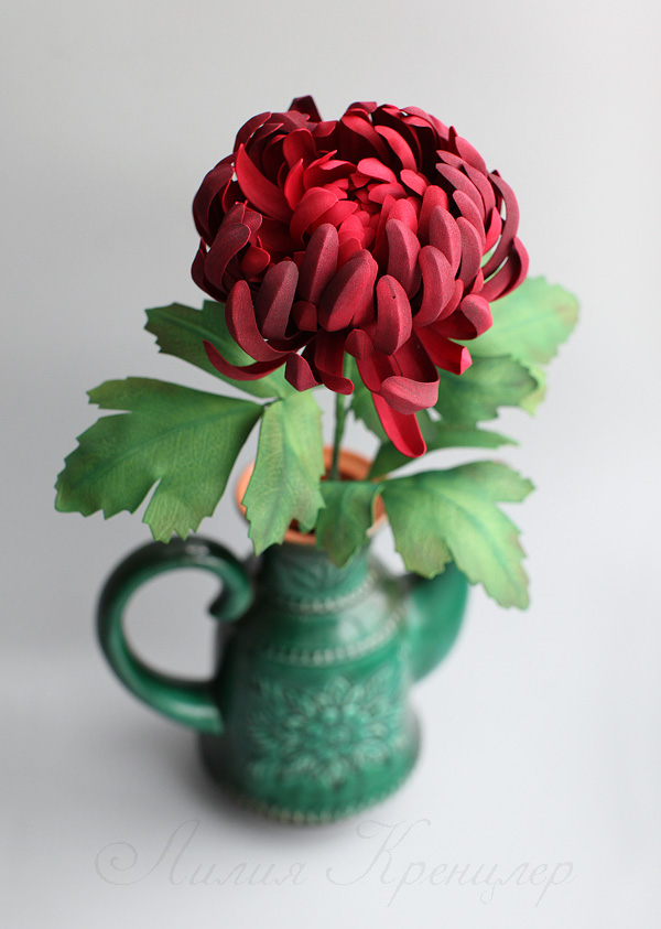 фоамиран, хризантема из фоамирана, мастер-класс по фоамирану, мастер-класс в москве, цветы из фоамирана, мастер-класс цветы