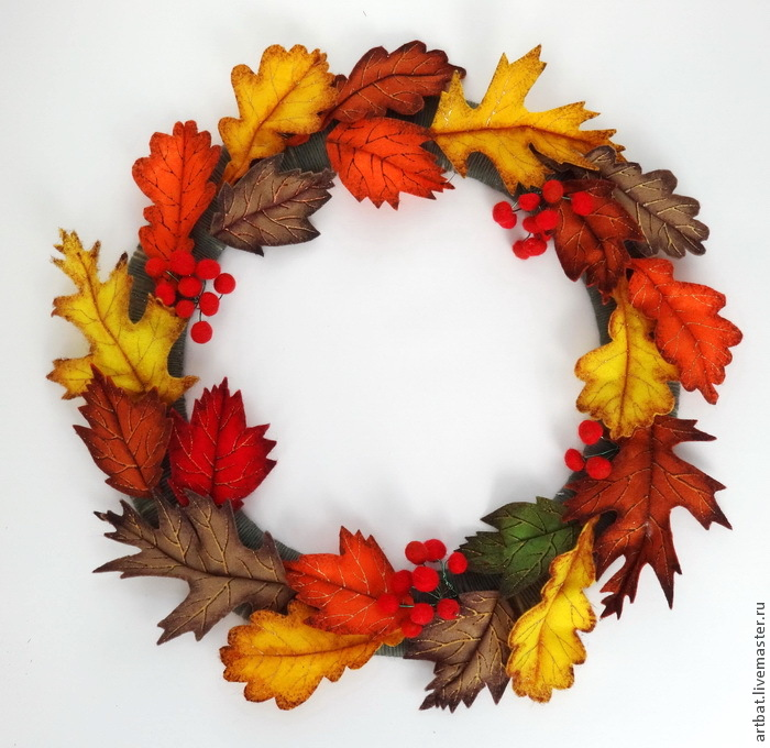 DIY Autumn Wreath Without Felting, фото № 20
