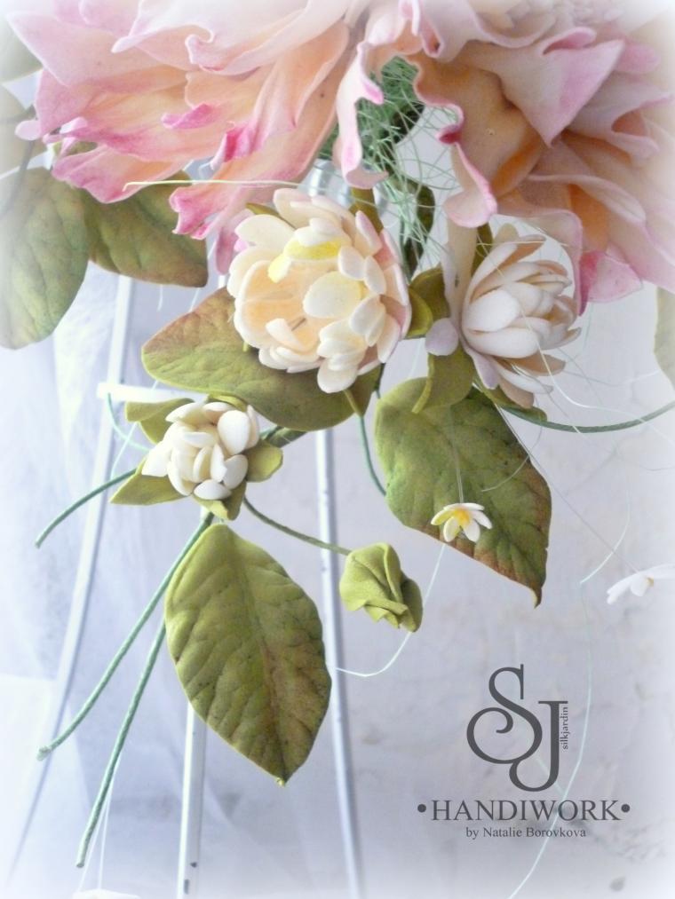 мастер-класс, фоам, обучение, украшение интерьера, цветоделие, для штор, цветы ручной работы