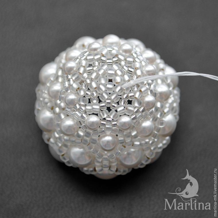 Jellyfish Pendant DIY with Pearls and Swarovski Crystals, фото № 29