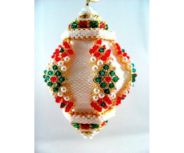 рождественские украшения из бисера