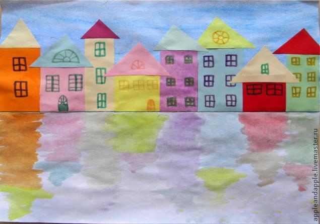 Night City Paper Craft with Children, фото № 4