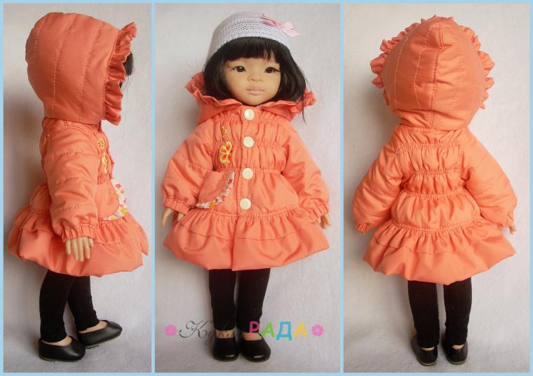 Как кукле сшить куртку 99