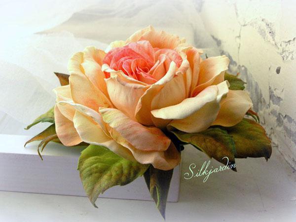цветы из фоамирана, цветы своими руками, обучение, мастер-классы, роза из фоамирана, цветы ручной работы, роза-брошь