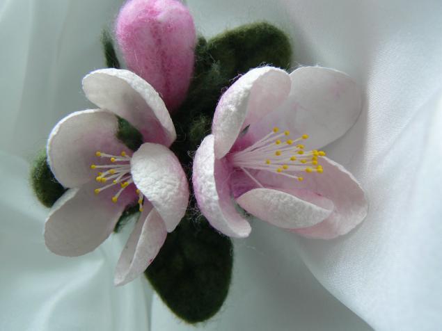 изготовление цветов, цветы из шерсти и шелка