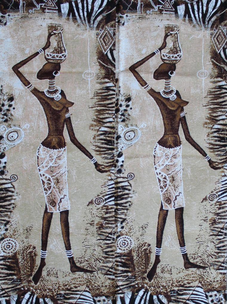заготовки для шитья, африканские мотивы