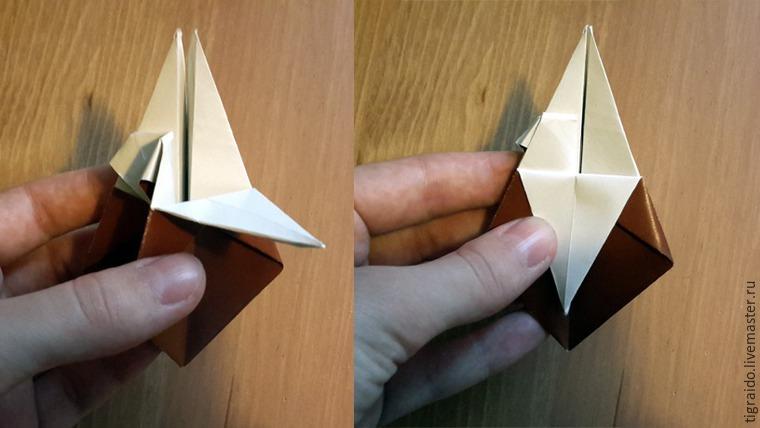 Оригами: пасхальная курочка, фото № 11
