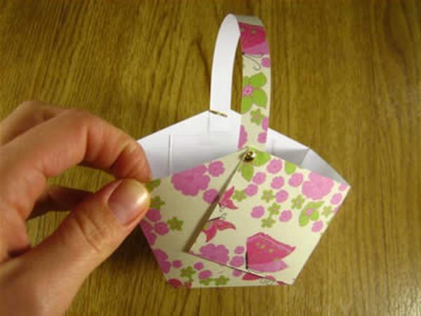 Сделать бумажную корзинку из