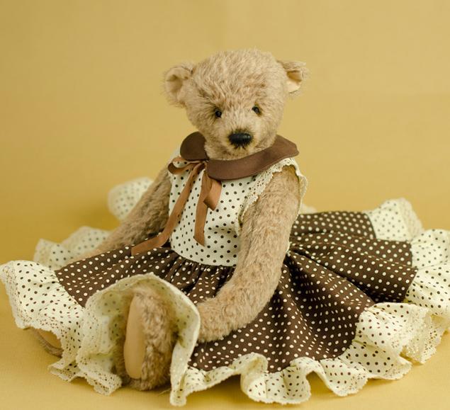 платья на мишку вязанного