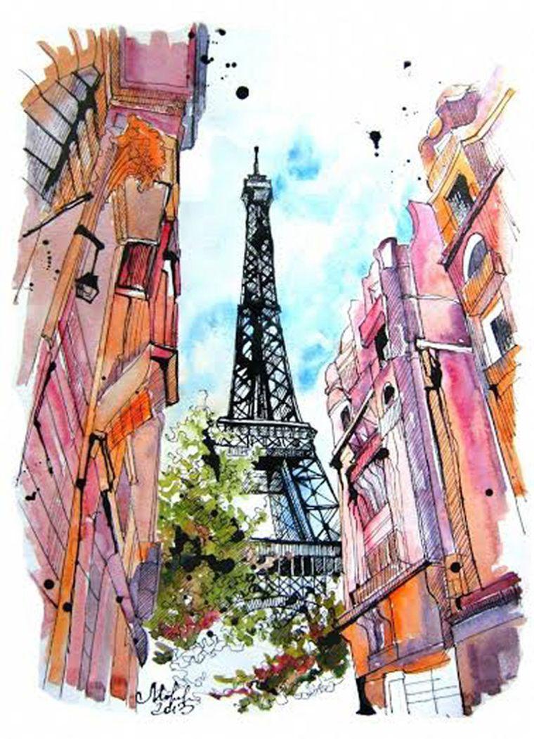 Красивая башня рисунок