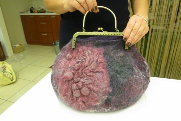 Фотоотчет по валянию сумки с мастером Ириной Бобковой., фото № 32