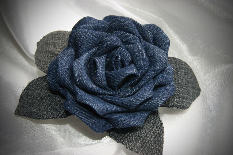 Розы из джинсовой ткани своими руками 75