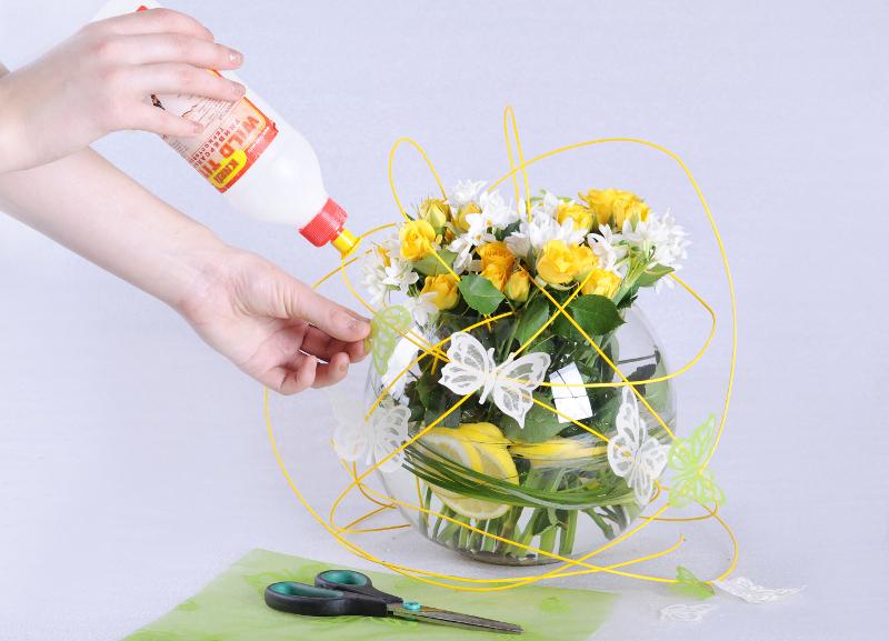 Простейшие композиции с тюльпанами своими руками