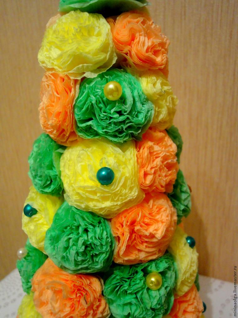 Новогодняя елочка из бумажных салфеток своими руками, фото № 26