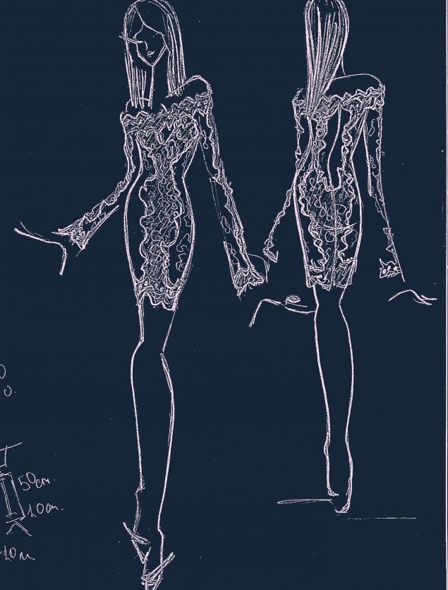 эскизы к платьям