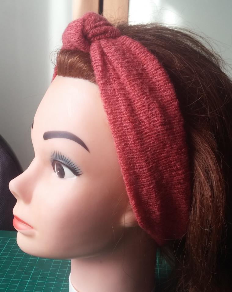 Повязка на голову из трикотажа мастер класс