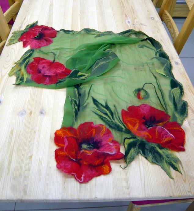 Валяние на шелке одежды