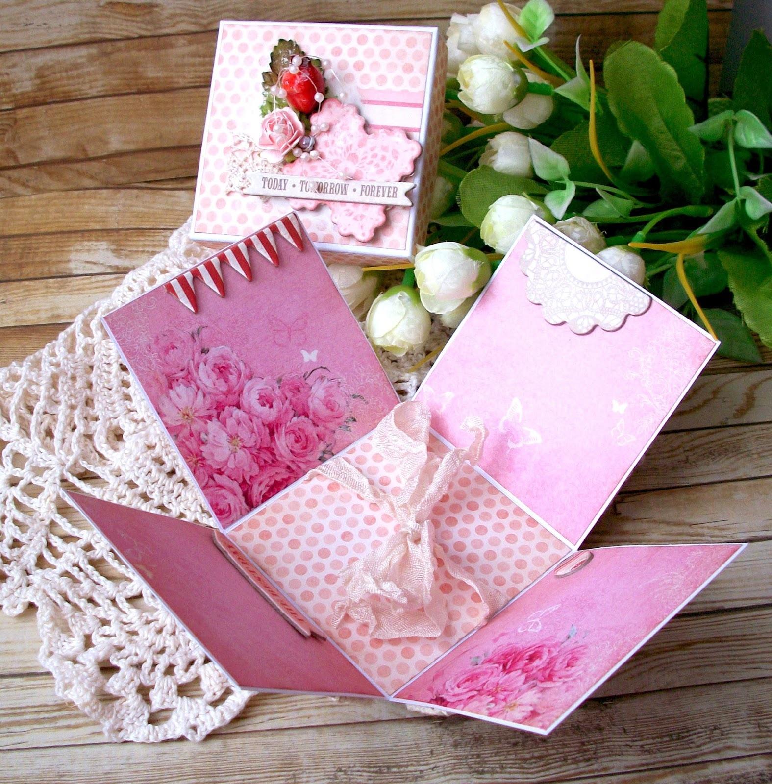 Скрапбукинг подарочная коробка своими руками