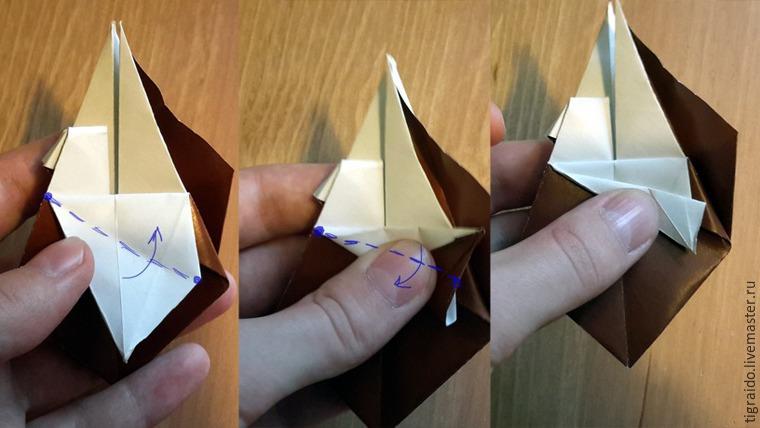 Оригами: пасхальная курочка, фото № 13