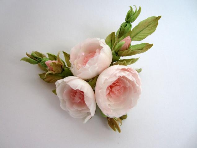 цветы из ткани, украшения для невесты, браслет с цветами