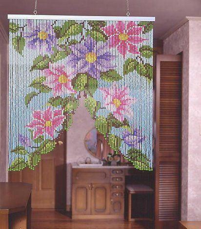 Шторы из бисера: прекрасные варианты украшения интерьера - Ярмарка Мастеров - ручная работа, handmade