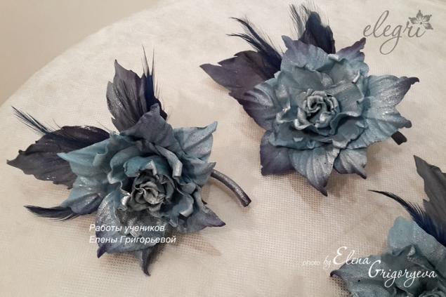 технология от elegri, крашение, эксклюзивные цветы