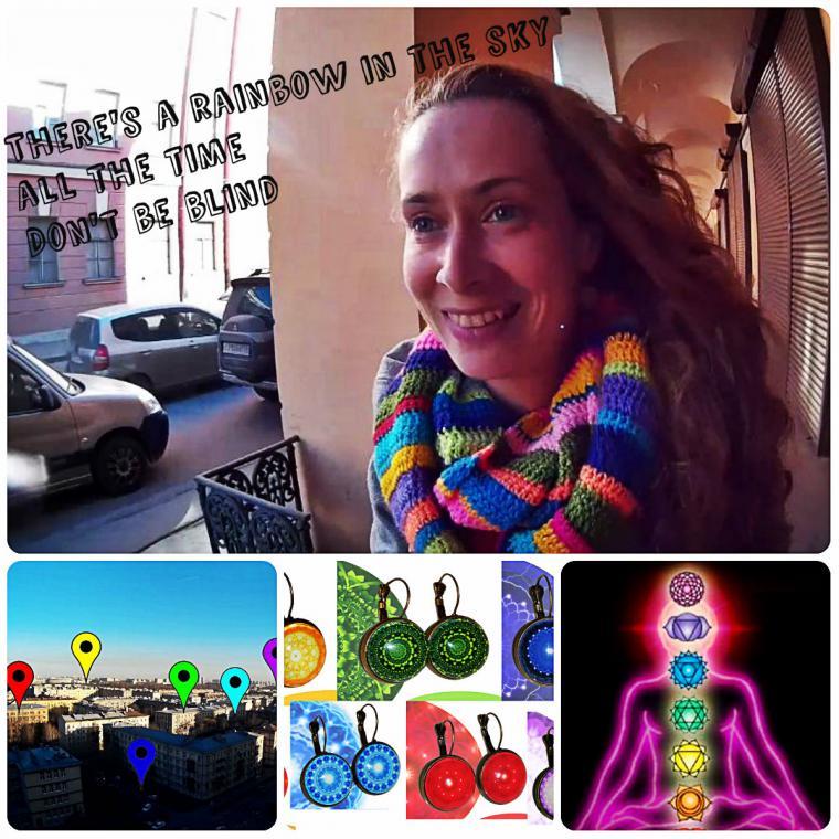 семь цветов, радуга, чакры, питер, прогулка, блог шарокубик, sharokubik, серьги, серьги с чакрами, мандала