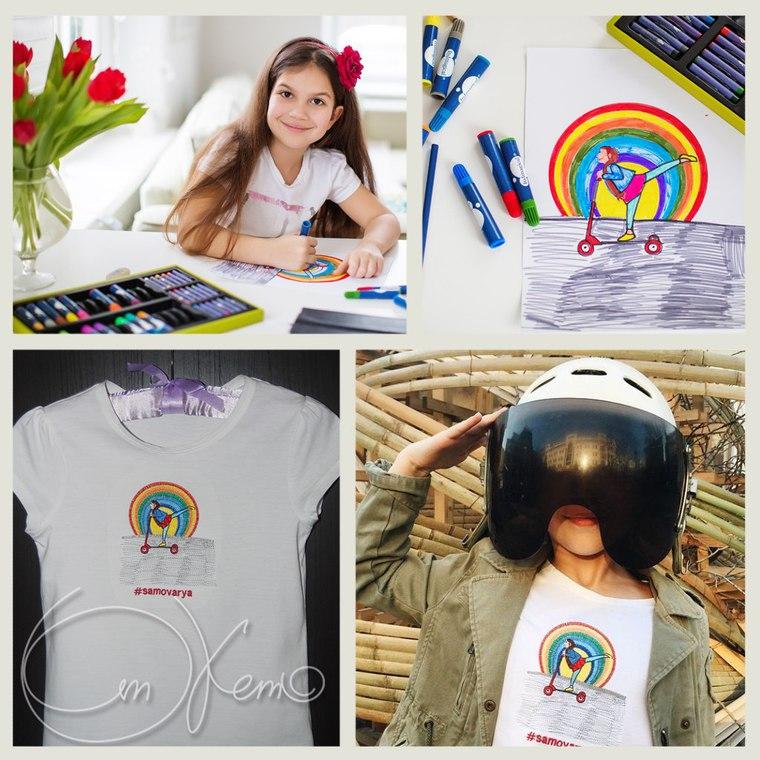 детский рисунок, рисунок, машинная вышивка, вышивка, вышивка на одежде