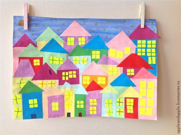 Night City Paper Craft with Children, фото № 3