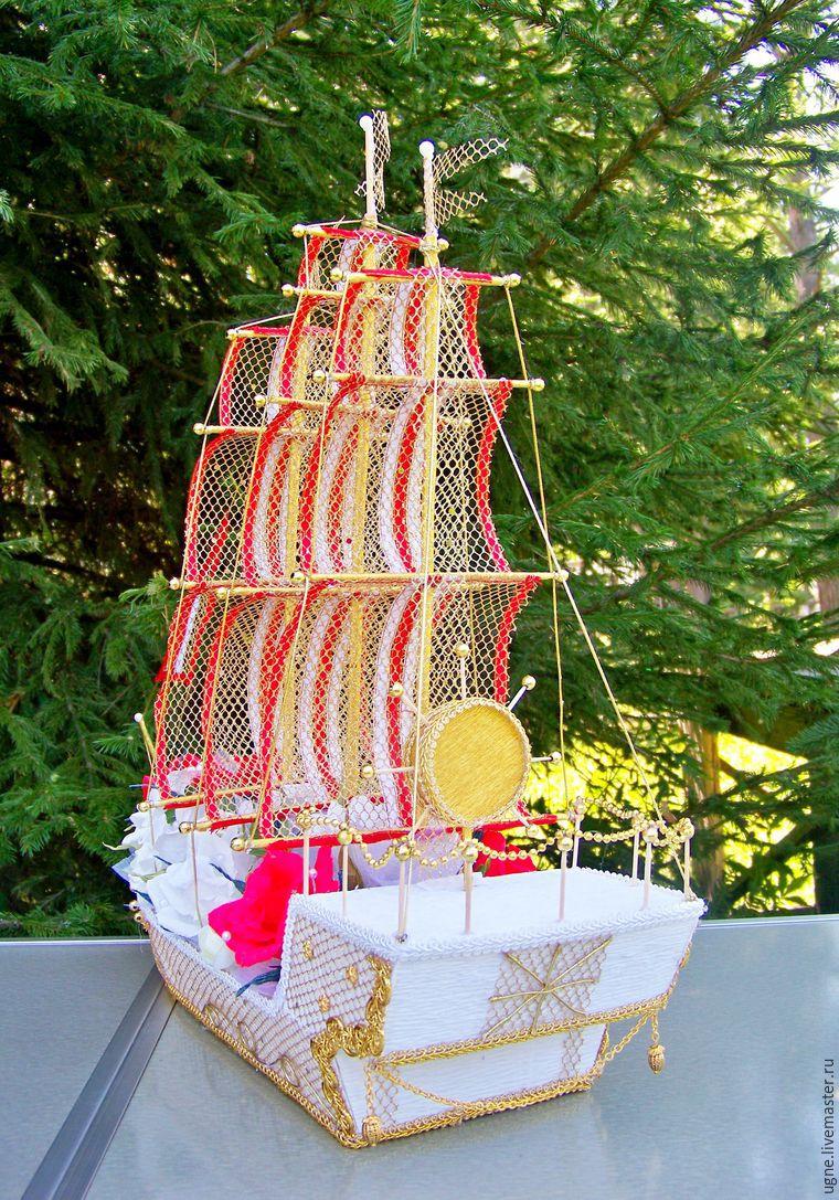 Мастер-класс: свадебный корабль из конфет: публикации и мастер-классы – Ярмарка Мастеров