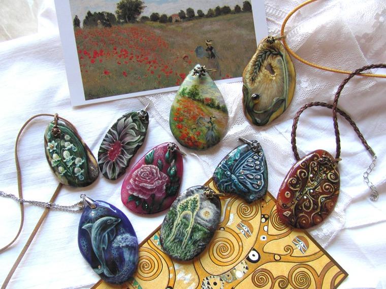 новые поступления, роспись маслом, купить украшение, купить лаковую миниатюр, бабочка цветок