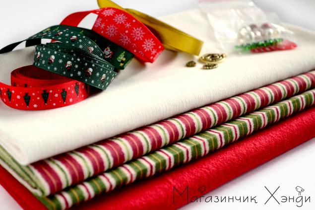 новый год, подарок, материалы для рукоделия, шитье