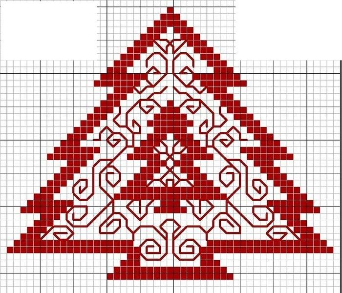 Вышивка крестом новогодних открыток и 579