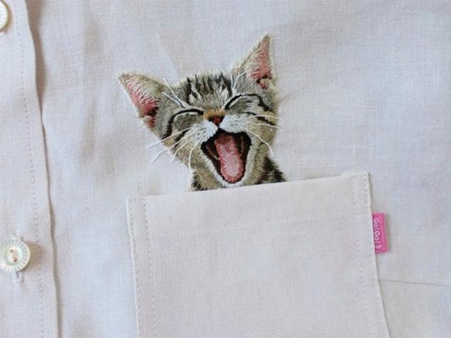 сумка с кошкой