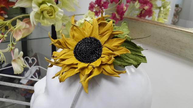 мастер-класс подсолнух, обучение цветы