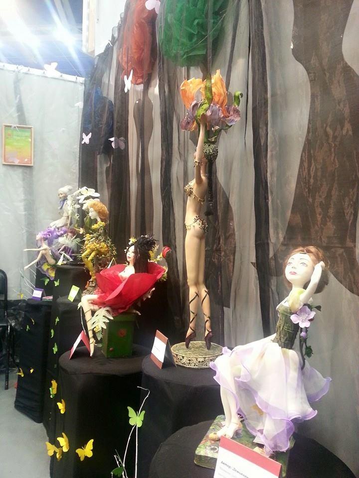 клуб любителей кукол, куклы райновой елены, цветочная тема