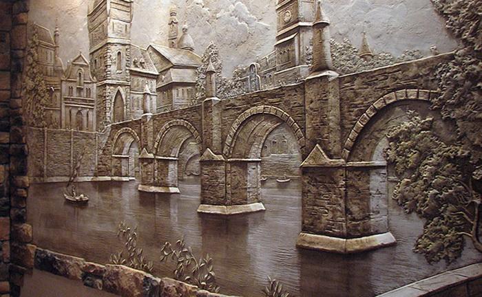 Рельефные картины на стену своими руками