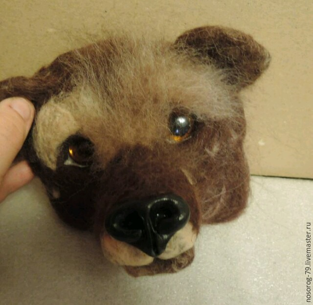 «Пробирается медведь сквозь лесной валежник...». Создаем из шерсти панно «Пробуждение», фото № 8