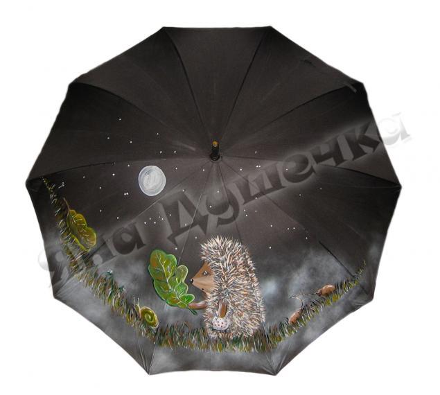 зонт, герои мультфильмов, пес шарик, ежик в тумане