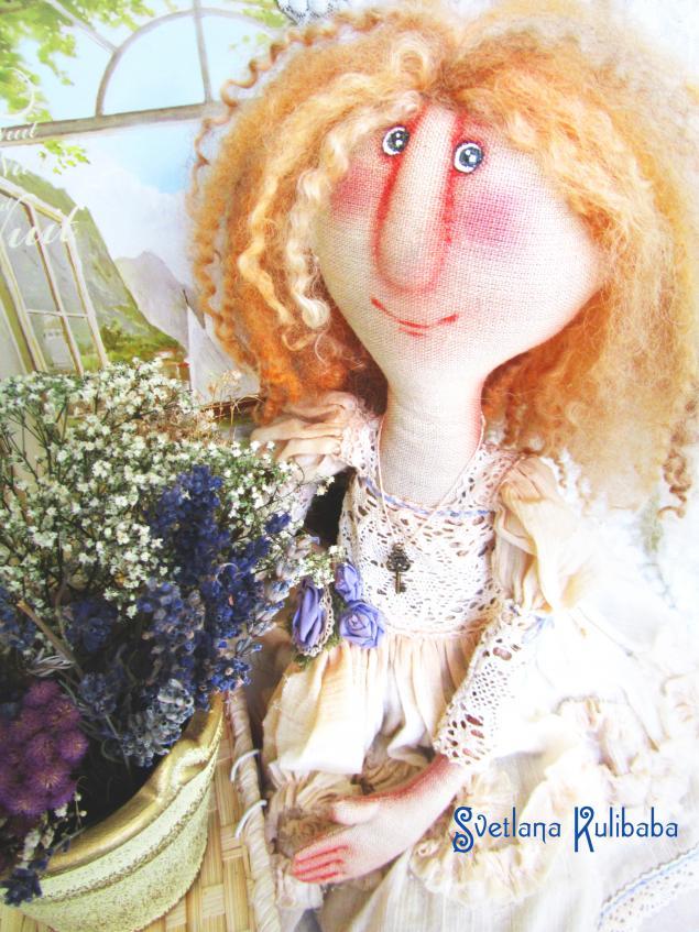 рыжая кукла, лавандовый