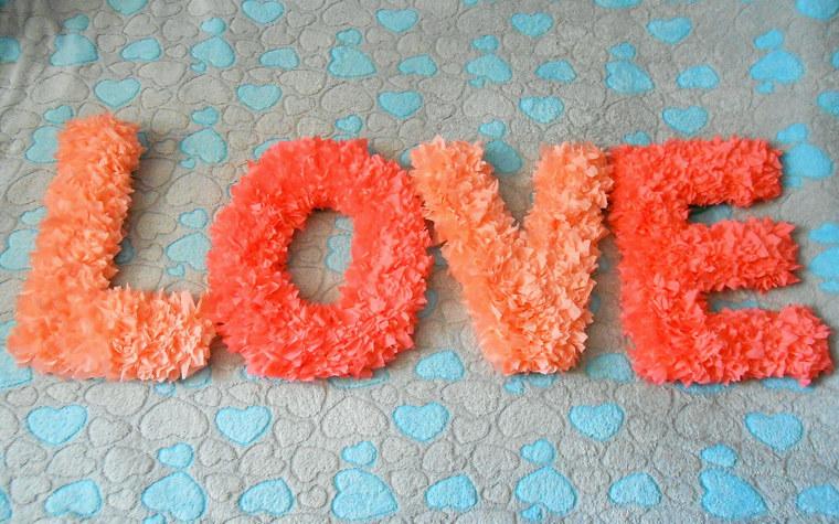Как сделать буквы своими руками на свадьбу