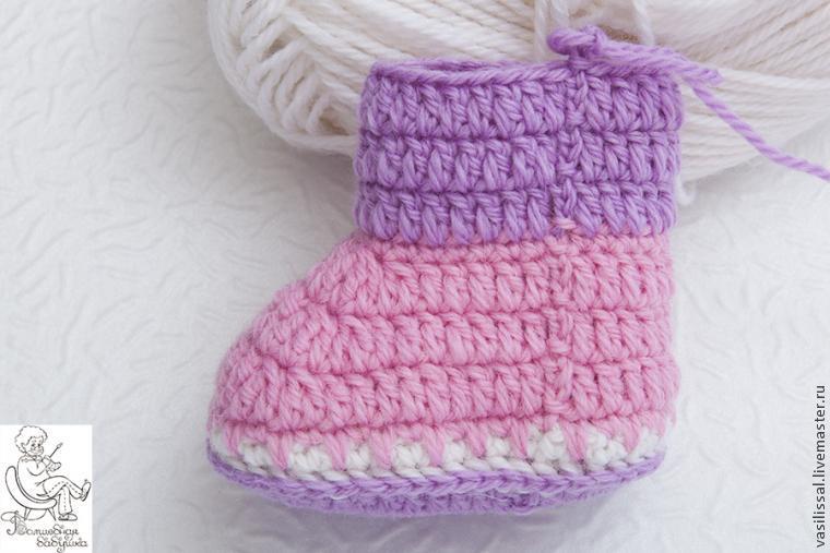 钩针教程:新生儿的软底鞋 第二课:鞋帮(大师班) - maomao - 我随心动