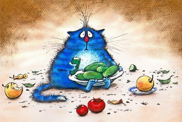 Картинки синие коты - b