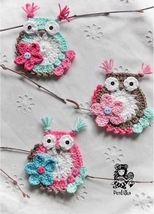 cute crocheted owls #decor #home
