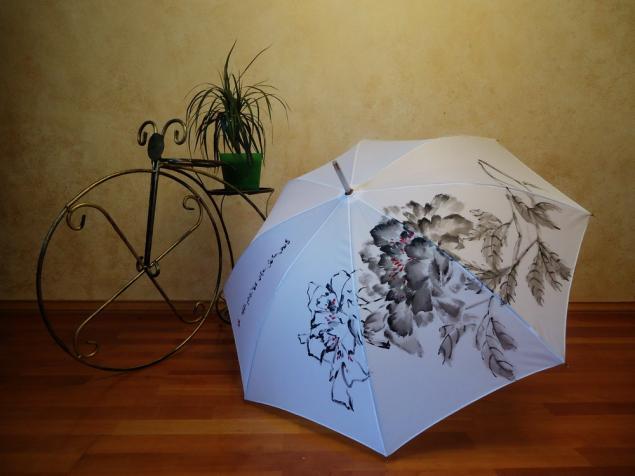 зонт, обучение рисованию