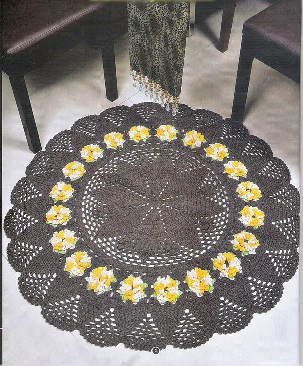 Схемы вязания ковриков крючком для пола фото
