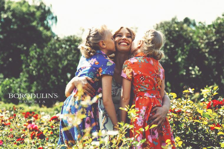 family look, платья для принцесс, рыжее платье